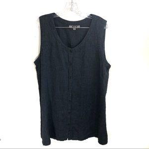 Flax Linen Textured Button Up Dress